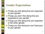 gender expectations