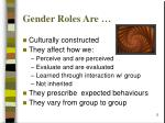 gender roles are