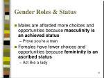 gender roles status