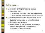 men are