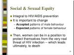 social sexual equity