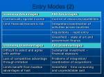entry modes 2