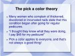 the pick a color theory