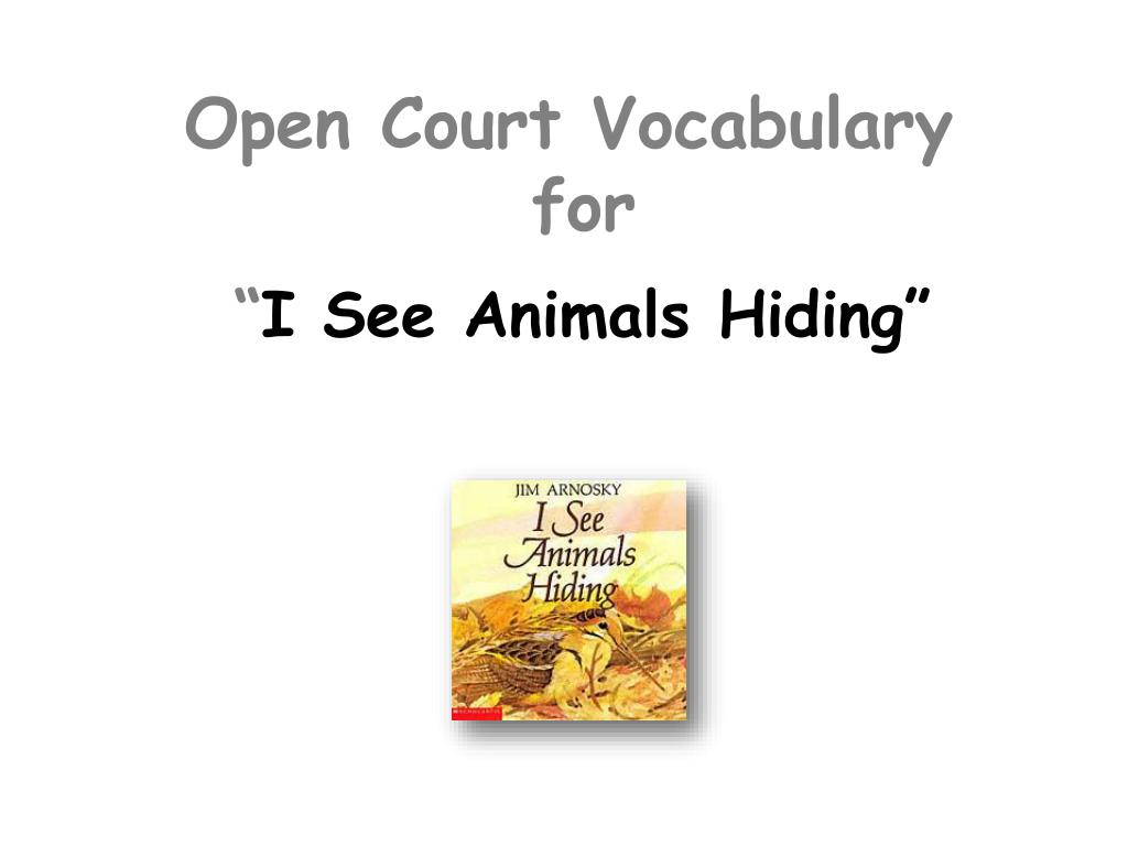 open court vocabulary for l.