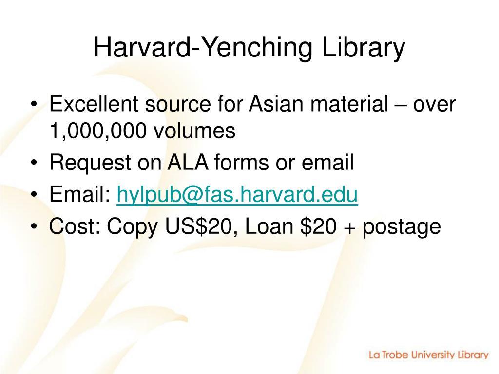 Harvard-Yenching Library