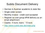 subito document delivery