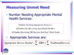 measuring unmet need
