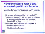 number of adults with a smi who need specific mh services26