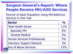surgeon general s report where people receive mh aod services