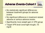 adverse events cohort i