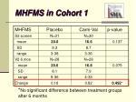 mhfms in cohort 1