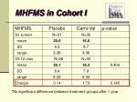 mhfms in cohort i