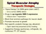 spinal muscular atrophy therapeutic strategies