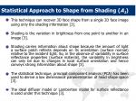 statistical approach to shape from shading a 1