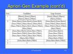 apriori gen example cont d