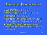 association rule definitions