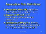 association rule definitions132