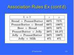association rules ex cont d