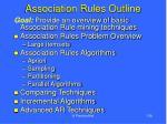 association rules outline