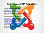 our joomla cms expertise