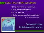 eyes pollution and optrex