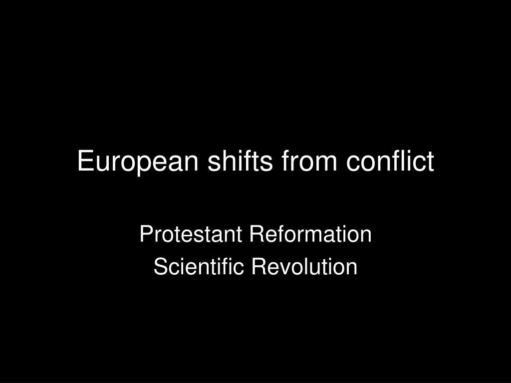 european shifts from conflict l.