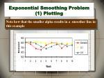 exponential smoothing problem 1 plotting