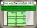 simple linear regression problem data