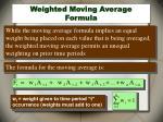 weighted moving average formula