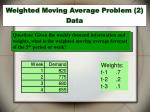 weighted moving average problem 2 data