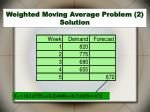 weighted moving average problem 2 solution