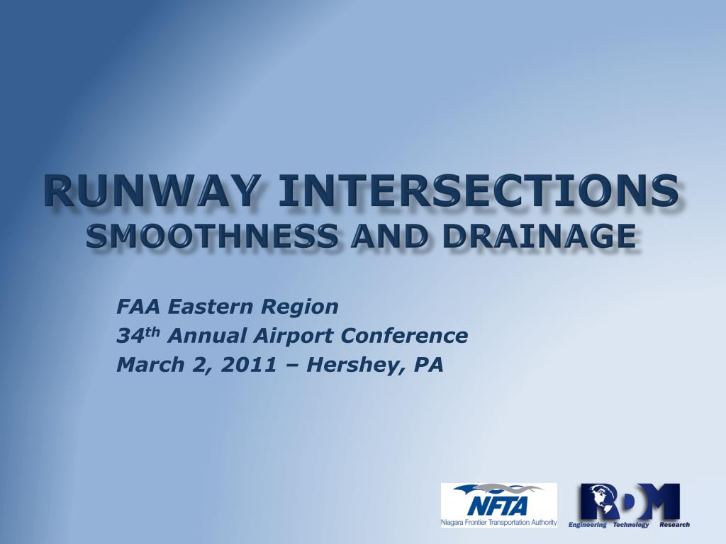 runway intersections smoothness and drainage l.