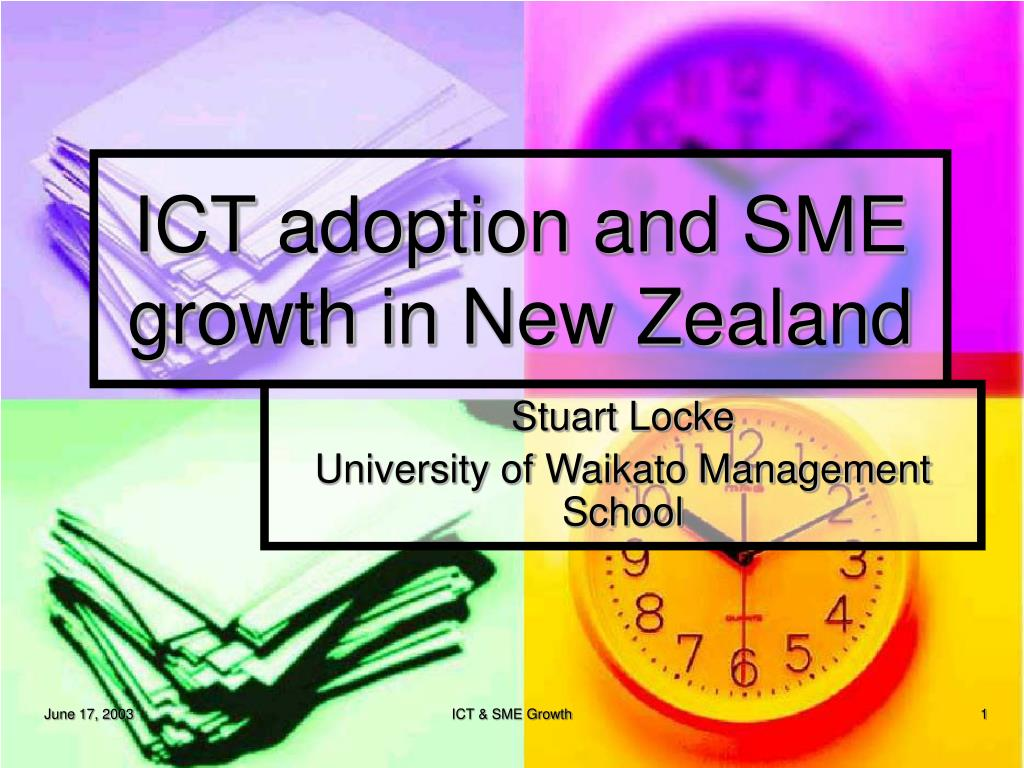 ict adoption and sme growth in new zealand l.