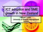 ict adoption and sme growth in new zealand