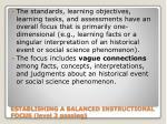 establishing a balanced instructional focus level 2 passing