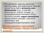 establishing a balanced instructional focus level 2 passing15