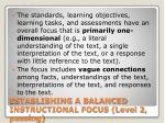 establishing a balanced instructional focus level 2 passing19