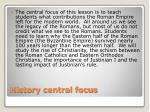 history central focus