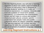 learning segment instructions p 1