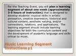 music learning segment instuctions p1