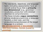wl establishing a balanced instructional focus level 2 passing