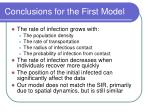 conclusions for the first model