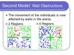 second model wall obstructions