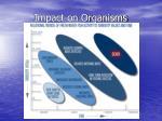 impact on organisms