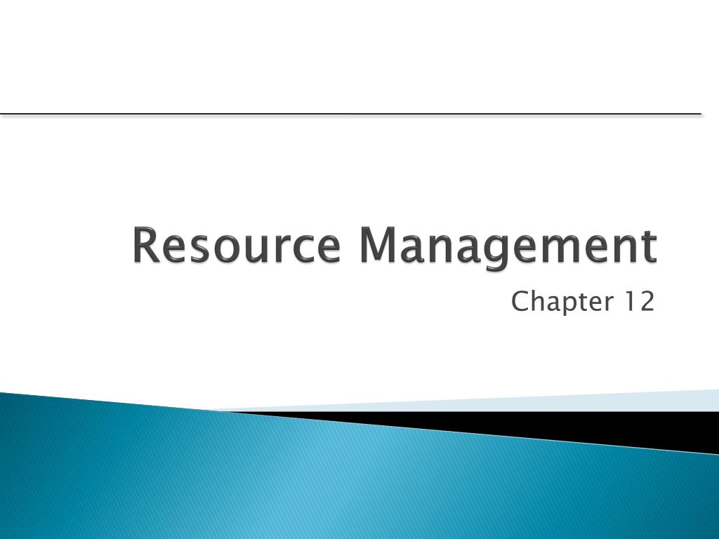 resource management l.
