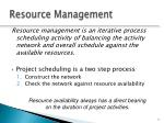 resource management3