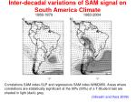 inter decadal variations of sam signal on south america climate