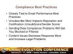 compliance best practices