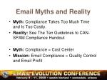 email myths and reality