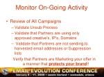 monitor on going activity